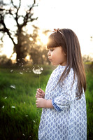 Girl Blowing Dandelion ( California & bay area photographer)